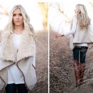Sweaters - Cream Teddy Vest